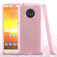 *Sale* Full Glitter Hybrid Protective Case for Motorola Moto E5 Play / E5 Cruise - Pink