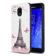 *Sale* Art Pop Series 3D Embossed Printing Hybrid Case for Samsung Galaxy J7 (2018) - Eiffel Tower