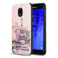*Sale* Art Pop Series 3D Embossed Printing Hybrid Case for Samsung Galaxy J7 (2018) - Paris