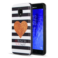 Art Pop Series 3D Embossed Printing Hybrid Case for Samsung Galaxy J7 (2018) - Heart