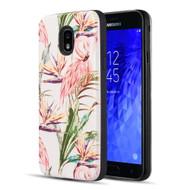 *Sale* Art Pop Series 3D Embossed Printing Hybrid Case for Samsung Galaxy J3 (2018) - Flamingo