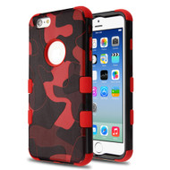 Military Grade Certified TUFF Image Hybrid Armor Case for iPhone 6 / 6S - Camouflage Red