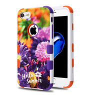 Military Grade Certified TUFF Image Hybrid Armor Case for iPhone 8 / 7 - Chrysanthemum Field