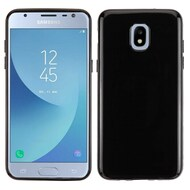 Rubberized Crystal Case for Samsung Galaxy J3 (2018) - Jet Black