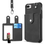 *Sale* Vintage Leather Wallet + Detachable Card Case + Hand Strap for iPhone 8 Plus / 7 Plus / 6S Plus / 6 Plus - Black