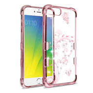 TUFF Klarity Electroplating Anti-Shock TPU Diamond Case for iPhone 8 Plus / 7 Plus / 6S Plus / 6 Plus - Lily of Valley