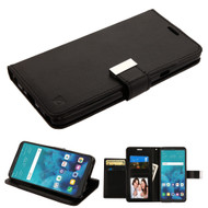 Essential Leather Wallet Stand Case for LG Stylo 4 - Black