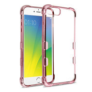 TUFF Klarity Electroplating Transparent Anti-Shock TPU Case for iPhone 8 Plus / 7 Plus / 6S Plus / 6 Plus - Rose Gold