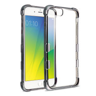 TUFF Klarity Electroplating Transparent Anti-Shock TPU Case for iPhone 8 Plus / 7 Plus / 6S Plus / 6 Plus - Gunmetal