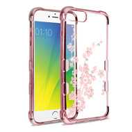 *Sale* TUFF Klarity Anti-Shock TPU Diamond Case for iPhone 8 Plus / 7 Plus / 6S Plus / 6 Plus - Spring Flowers