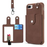 *SALE* Vintage Leather Wallet + Detachable Card Case + Hand Strap for iPhone 8 Plus / 7 Plus / 6S Plus / 6 Plus - Brown