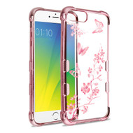 TUFF Klarity Electroplating Transparent Anti-Shock TPU Case for iPhone 8 Plus / 7 Plus / 6S Plus / 6 Plus - Butterflies