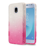 *Sale* Tuff Full Glitter Hybrid Protective Case for Samsung Galaxy J3 (2018) - Gradient Pink