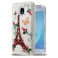 *Sale* Tuff Full Glitter Diamond Hybrid Protective Case for Samsung Galaxy J3 (2018) - Paris Monarch Butterflies