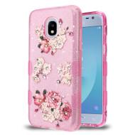 *Sale* Tuff Full Glitter Diamond Hybrid Protective Case for Samsung Galaxy J3 (2018) - European Peony