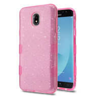 Tuff Full Glitter Hybrid Protective Case for Samsung Galaxy J7 (2018) - Pink
