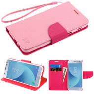 *Sale* Diary Leather Wallet Case for Samsung Galaxy J3 (2018) - Pink