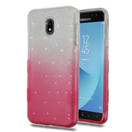 Tuff Full Glitter Hybrid Protective Case for Samsung Galaxy J7 (2018) - Gradient Pink