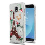Tuff Full Diamond Glitter Hybrid Protective Case for Samsung Galaxy J7 (2018) - Paris Monarch Butterflies