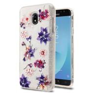 Tuff Full Diamond Glitter Hybrid Protective Case for Samsung Galaxy J7 (2018) - Purple Stargazer