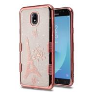 Tuff Lite Quicksand Electroplating Case for Samsung Galaxy J7 (2018) - Eiffel Tower