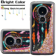 Quicksand Glitter Transparent Case for Motorola Moto G6 Play / G6 Forge - Dreamcatcher
