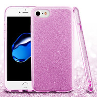 Full Glitter Hybrid Protective Case for iPhone 8 / 7 - Purple