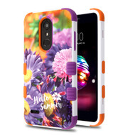 Military Grade Certified TUFF Image Hybrid Armor Case for LG K30 - Chrysanthemum Field
