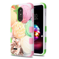 Military Grade Certified TUFF Image Hybrid Armor Case for LG K30 - Ice Cream Scoops