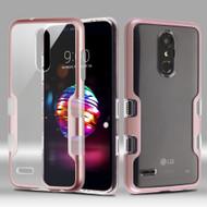TUFF Panoview Transparent Hybrid Case for LG K30 - Rose Gold