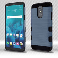 Military Grade Certified TUFF Trooper Dual Layer Hybrid Armor Case for LG Stylo 4 - Brushed Slate Blue