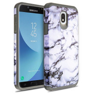 Hybrid Multi-Layer Armor Case for Samsung Galaxy J7 (2018) - Marble White