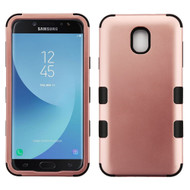 Military Grade Certified TUFF Hybrid Armor Case for Samsung Galaxy J3 (2018) - Rose Gold 059