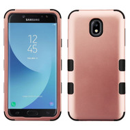 Military Grade Certified TUFF Hybrid Armor Case for Samsung Galaxy J7 (2018) - Rose Gold 059