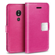 Essential Leather Wallet Case for Motorola Moto G6 Play / G6 Forge - Hot Pink