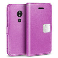 Essential Leather Wallet Case for Motorola Moto G6 Play / G6 Forge - Purple