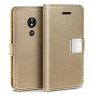 Essential Leather Wallet Case for Motorola Moto G6 Play / G6 Forge - Gold