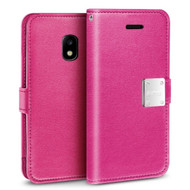 *Sale* Essential Leather Wallet Case for Samsung Galaxy J3 (2018) - Hot Pink