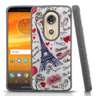 Tough Anti-Shock Triple Layer Hybrid Case for Motorola Moto E5 Plus - Eiffel Tower