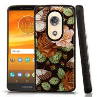 Tough Anti-Shock Triple Layer Hybrid Case for Motorola Moto E5 Plus - Lucky Flowers