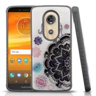 Tough Anti-Shock Triple Layer Hybrid Case for Motorola Moto E5 Plus - Elephant Mandala