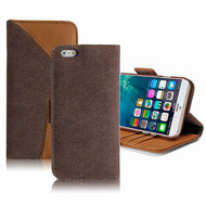 *SALE* Genuine Buffalo Hide Leather Wallet Folio Case for iPhone 6 / 6S - Brown