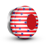 HyperGear H2O IPX4 Water Resistant Bluetooth Wireless Speaker with Built-In Mic - US Flag