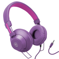 HyperGear V50 Stereo Headphones with In-Line Microphone and Remote - Purple Pink