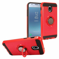 *Sale* Sports Hybrid Armor Case with Smart Loop Ring Holder for Samsung Galaxy J3 (2018) - Red