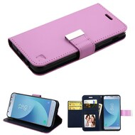 *SALE* Essential Leather Wallet Stand Case for Samsung Galaxy J3 (2018) - Purple