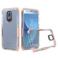 *Sale* Transparent Protective Bumper Case for Samsung Galaxy J3 (2018) - Rose Gold