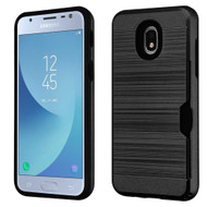 *Sale* ID Card Slot Hybrid Case for Samsung Galaxy J3 (2018) - Black