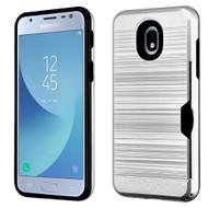 *Sale* ID Card Slot Hybrid Case for Samsung Galaxy J3 (2018) - Silver