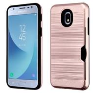 *Sale* ID Card Slot Hybrid Case for Samsung Galaxy J3 (2018) - Rose Gold